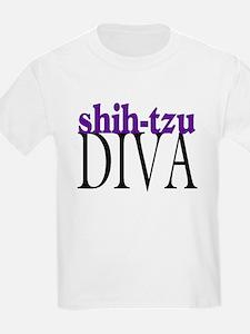 Shih-tzu Diva Kids T-Shirt