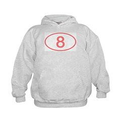 Number 8 Oval Hoodie