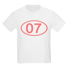 Number 07 Oval Kids T-Shirt