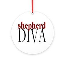 Shepherd Diva Ornament (Round)