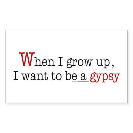 ... a gypsy Rectangle Sticker