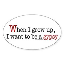 ... a gypsy Oval Decal
