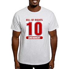 10 Team Ash Grey T-Shirt