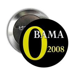 "O for Obama 2008 2.25"" Button (10 pack)"