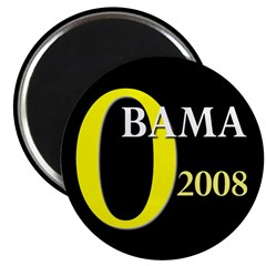 "O for Obama 2008 2.25"" Magnet (100 pack)"