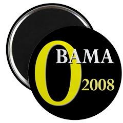 O for Obama 2008 Magnet