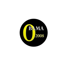 O for Obama 2008 Mini Button (100 pack)