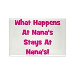 What Happens At Nana's Pink Rectangle Magnet