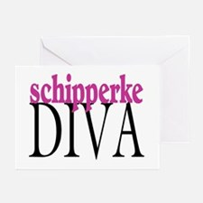 Schipperke Diva Greeting Cards (Pk of 10)