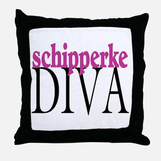 Schipperke Diva Throw Pillow