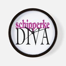 Schipperke Diva Wall Clock