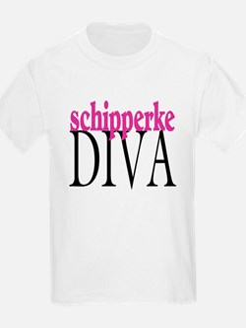 Schipperke Diva Kids T-Shirt
