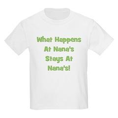 What Happens At Nana's Green Kids T-Shirt