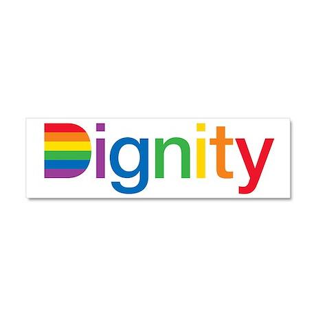 Dignity Car Magnet 10 x 3