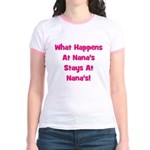 What Happens At Nana's Pink Jr. Ringer T-Shirt