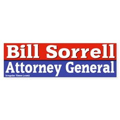 Bill Sorrell Bumper Bumper Sticker