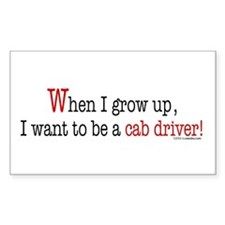 ... a cab driver Rectangle Decal