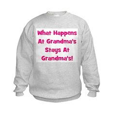 What Happens At Grandma's Pin Sweatshirt