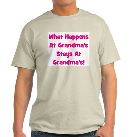 What Happens At Grandma's Pin Ash Grey T-Shirt