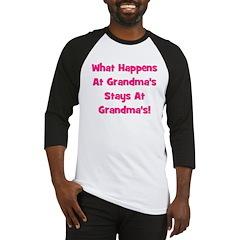 What Happens At Grandma's Pin Baseball Jersey