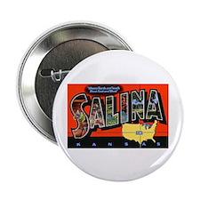 "Salina Kansas Greetings 2.25"" Button (10 pack)"