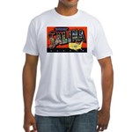 Salina Kansas Greetings (Front) Fitted T-Shirt