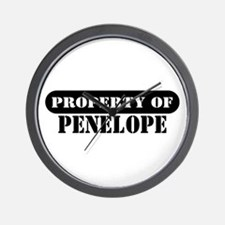 Property of Penelope Wall Clock
