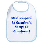 What Happens At Grandmas Blue Bib