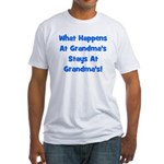 What Happens At Grandmas Blue Fitted T-Shirt