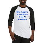 What Happens At Grandmas Blue Baseball Jersey
