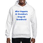 What Happens At Grandmas Blue Hooded Sweatshirt
