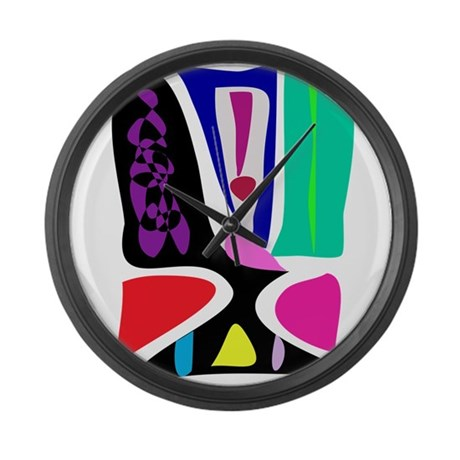 Masked Face Large Wall Clock By Masabosonlinestore5