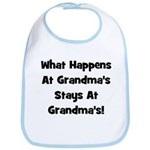 What Happens At Grandmas Blac Bib