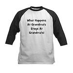 What Happens At Grandmas Blac Kids Baseball Jersey
