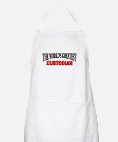 """The World's Greatest Custodian"" BBQ Apron"