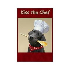 Black Labrador Chef Rectangle Magnet