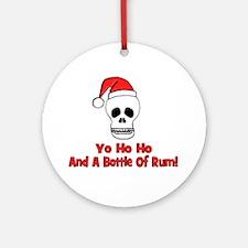 Yo Ho Ho & A Bottle Of Rum Ornament (Round)