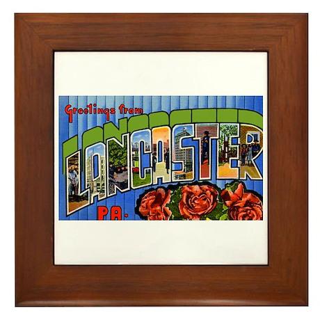 Lancaster Pennsylvania Greetings Framed Tile