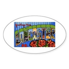 Lancaster Pennsylvania Greetings Oval Decal