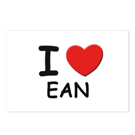 I love Ean Postcards (Package of 8)