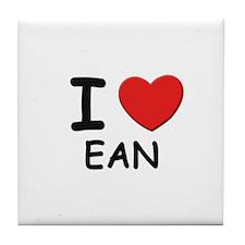 I love Ean Tile Coaster