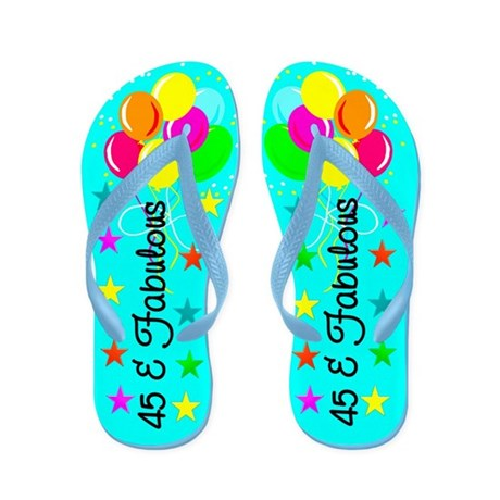 ATTRACTIVE 45TH Flip Flops
