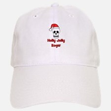 Holly Jolly Roger Baseball Baseball Cap