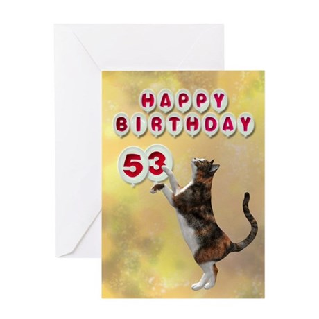 53rd birthday with a cat Greeting Card