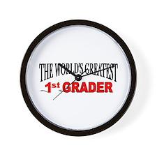 """The World's Greatest 1st Grader"" Wall Clock"