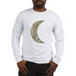 Midirs Brooch Long Sleeve T-Shirt - Wht/Gry