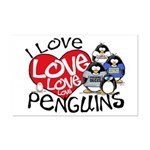 I Love Love More Penguins Mini Poster Print