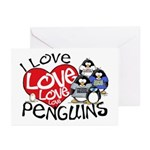 I Love Love More Penguins Greeting Cards (Package
