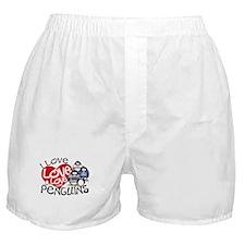 I Love Love More Penguins Boxer Shorts