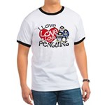I Love Love More Penguins Ringer T
